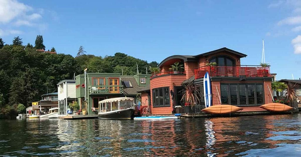 Seattle Lake Union House Boat